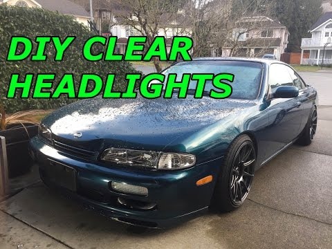 240SX S14 Build EP.11 Clear Headlight Covers Install