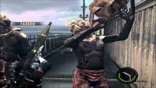 getlinkyoutube.com-Resident Evil 5 - The Mercenaries - Solo -Ship Deck - Boss Mania