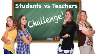 getlinkyoutube.com-Students vs Teachers Challenge | Brooklyn and Bailey
