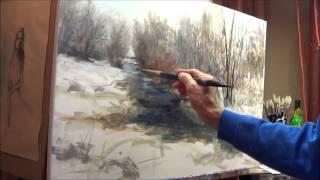 getlinkyoutube.com-Oil Painting winter scene with Michael Pintar