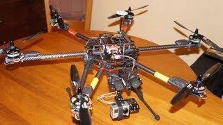 getlinkyoutube.com-Hexacopter Tarot FY 680 Heavy lift test and Crash