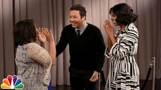getlinkyoutube.com-Michelle Obama Surprises People Recording Goodbye Messages to Her