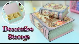 getlinkyoutube.com-DIY - Vintage Book Storage Box TUTORIAL - room decor ideas - Isa ❤️
