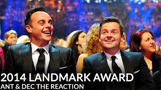 getlinkyoutube.com-Ant & Dec's NTA Landmark Award - Their Reaction