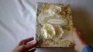 getlinkyoutube.com-Happiness Scrapbook Mini Photo Album Anna Griffin Papers