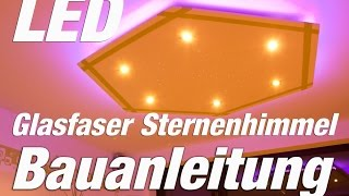 getlinkyoutube.com-LED Deckenleuchte selber bauen | LED + Glasfaser | Hexagon