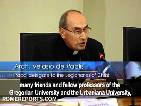 Velasio de Paolis  Papal delegate to the Legionaries of Christ  first public appearance
