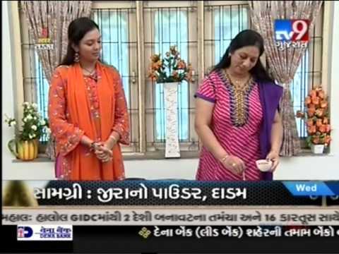 Tv 9 rasoi show on 27/11/2013 of Hina Chokshi