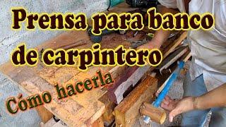 getlinkyoutube.com-Como Hacer una Prensa para Banco de Carpintero
