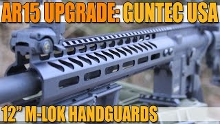 "getlinkyoutube.com-AR-15 Upgrades: GUNTEC USA 12"" M-LOK Handguards for under $100"