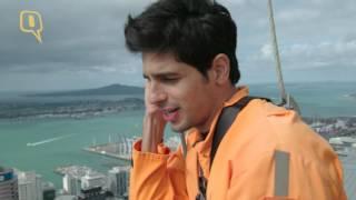 getlinkyoutube.com-Sidharth Malhotra does the sky-walk in Auckland, New Zealand