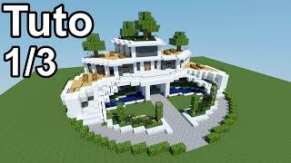 getlinkyoutube.com-Minecraft tutoriel - Maison moderne ! 1/3