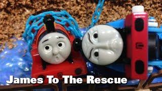 "getlinkyoutube.com-トーマス プラレール ガチャガチャ  レスキューきかんしゃジェームス Tomy Plarail Thomas ""James To The Rescue"""