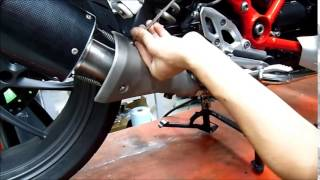 getlinkyoutube.com-BMW R 1200 R LC 2015 GPR EXHAUST FITTING INSTRUCTIONS  ISTRUZIONE MONTAGGIO