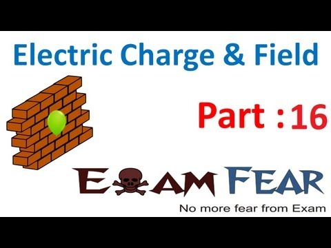 Physics Electric Charges & Fields part 16 (Electric Field) CBSE class 12