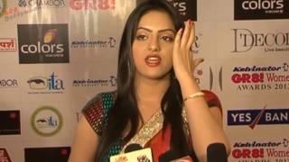 Serial actress deepika Singh @ Sandhya hot saree in a press meet