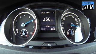 2015 Volkswagen Golf 7 R (300hp) - 0-257 km/h acceleration (1080p)