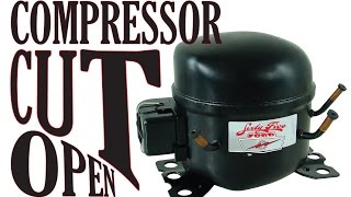 getlinkyoutube.com-Refrigerator Compressor tear down