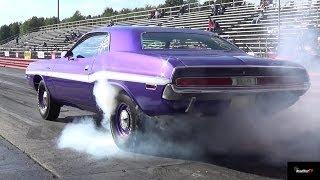 getlinkyoutube.com-426 Hemi GTX vs 440 / 6 Pack Challenger - 1/4 Mile Drag Race & Burn Out  Video - Road Test TV