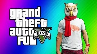 getlinkyoutube.com-GTA 5 Funny Moments - I'm Not a Hipster DLC, Turdmobile Stunts, Raccoon Mask, Gate Launch Glitch