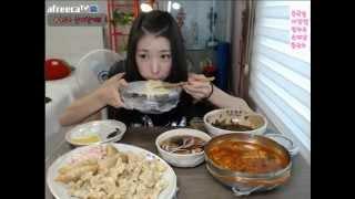 getlinkyoutube.com-피트니스요정) 자장면 콩국수 탕수육 육개장 먹방 eatingshow 150726