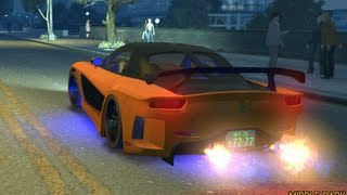 getlinkyoutube.com-Fast And Furious Tokyo Drift Car MAZDA TUNING VS GTA4