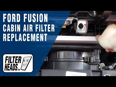 How to Replace Cabin Air Filter 2016 Ford Fusion