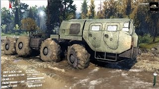 SPINTIRES 2014 Full Version Preview - MAZ 7310 8x8 Truck Towing the Ural Truck + Trailer