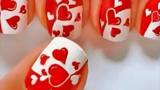 getlinkyoutube.com-Uñas decoradas con corazones