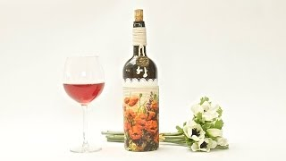 getlinkyoutube.com-Decoupage krok po kroku - butelka na poprawę nastroju - tuturial  DIY