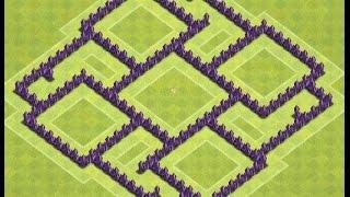 getlinkyoutube.com-Enormous TH7 War Base Anti-Full Drag | Clash of Clans
