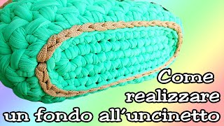 getlinkyoutube.com-❀ [Tutorial #1] Base ovale per pochette uncinetto || Oval base for crochet clutch ❀