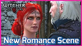 getlinkyoutube.com-Witcher 3 ► NEW TRISS ROMANCE SCENE at Kaer Morhen, Patch 1.10 - The Broken Bed