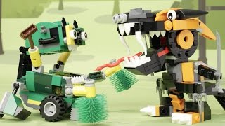 getlinkyoutube.com-Nindjas vs. Trashoz - LEGO Mixels - Stop Motion