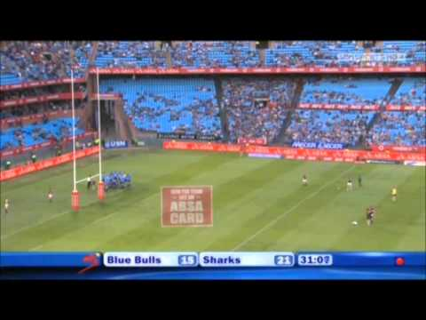 Craig Burden try against the Blue Bulls (03-09-2011)