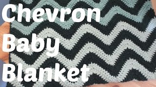 getlinkyoutube.com-Easy Crochet Chevron Baby Blanket