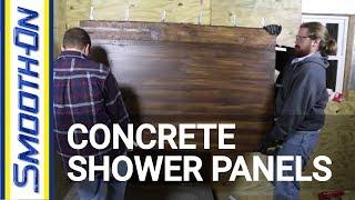 getlinkyoutube.com-Casting GFRC Concrete to Create Textured Shower Panels
