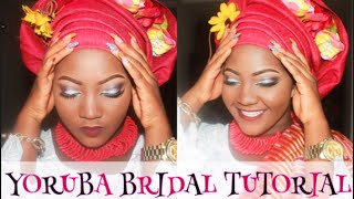 getlinkyoutube.com-YORUBA BRIDE- MAKEUP + GELE TYING + TULIP WRAP TUTORIAL
