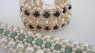 getlinkyoutube.com-Bracelet with Gunmetal Cup Chain Strands . Браслет из цепочки с кристаллами.Super Easy