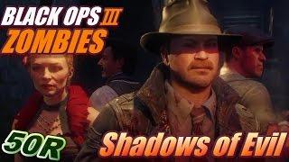 getlinkyoutube.com-【BO3 ゾンビモード】高ラウンドを目指して!(ソロ 50R)【Shadows of Evil】