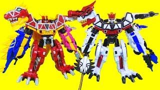 파워레인저 다이노포스 브레이브 티라노킹 라이덴킹 공룡합체 장난감 Power rangers Dinoforce Brave Toys