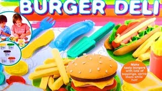 getlinkyoutube.com-Dough Burger Deli Set Play Doh Hamburger Hot Dog French Fries How to make Playdough Fast Food