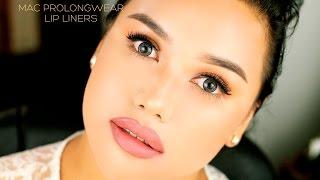 MAC Prolongwear Lip Liners: {8 lip swatches}