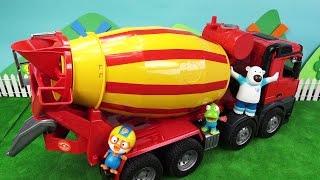 getlinkyoutube.com-뽀로로 브루더 MAN 레미콘 장난감으로 새집 짓기 놀이 ❤ 뽀로로 장난감 애니 ❤ Pororo Toy Video | 토이컴 Toycom