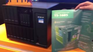 [CeBIT 2017] QNAP High-capacity Storage Center - TS-1685