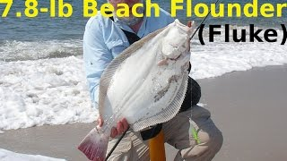 getlinkyoutube.com-How to Catch Flounder from the Beach - 7.8-Pound Surf Fluke!
