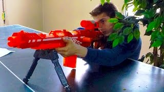 getlinkyoutube.com-Nerf War: Sniper Vs  Scout (first person view)