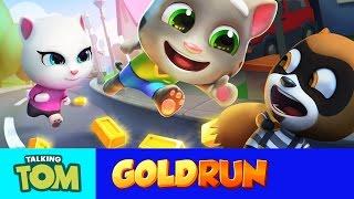 getlinkyoutube.com-Talking Tom Gold Run – Friends vs. the Robber (Compilation)