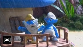 getlinkyoutube.com-It's Raining Smurfs | Robot Chicken | Adult Swim