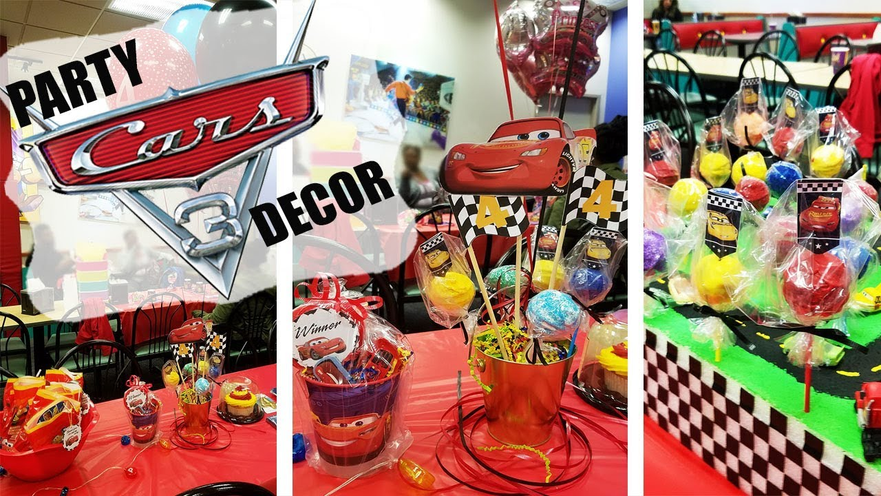 DISNEY'S CARS 3 BIRTHDAY PARTY DECOR | DIY | FUN IDEAS